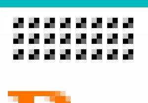Several pixel bumps