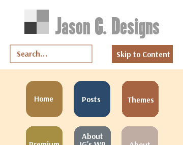 Jason G. Designs 2 mobile view