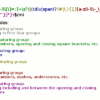 CSS regular expression capture groups with color coding