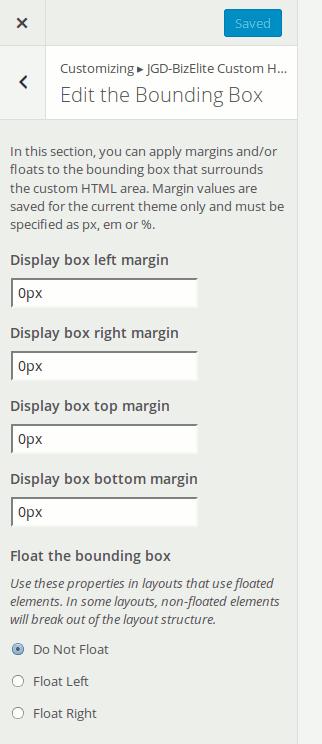 JGD-BizElite Custom HTML plugin's bounding box options
