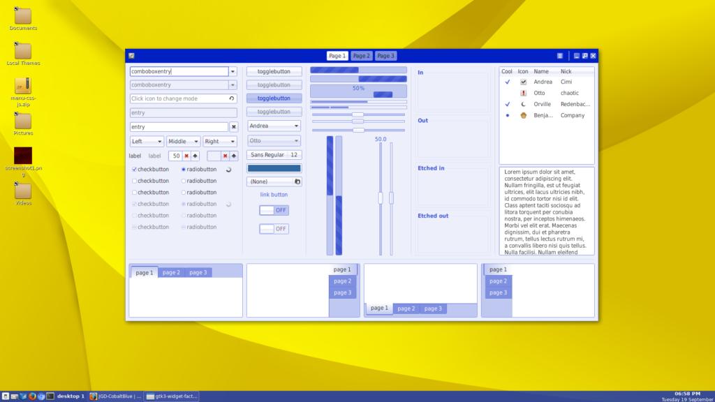 JGD-CobaltBlue Linux theme